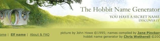 Il tuo nome Hobbit