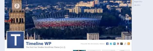Timeline, un tema per WordPress simile a Facebook – Gratis!